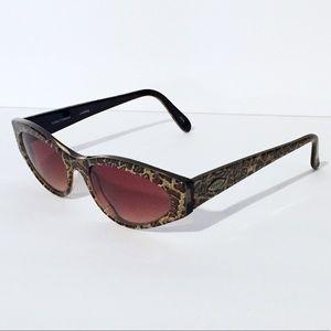 Fossil Laverne cat eye leopard sunglasses